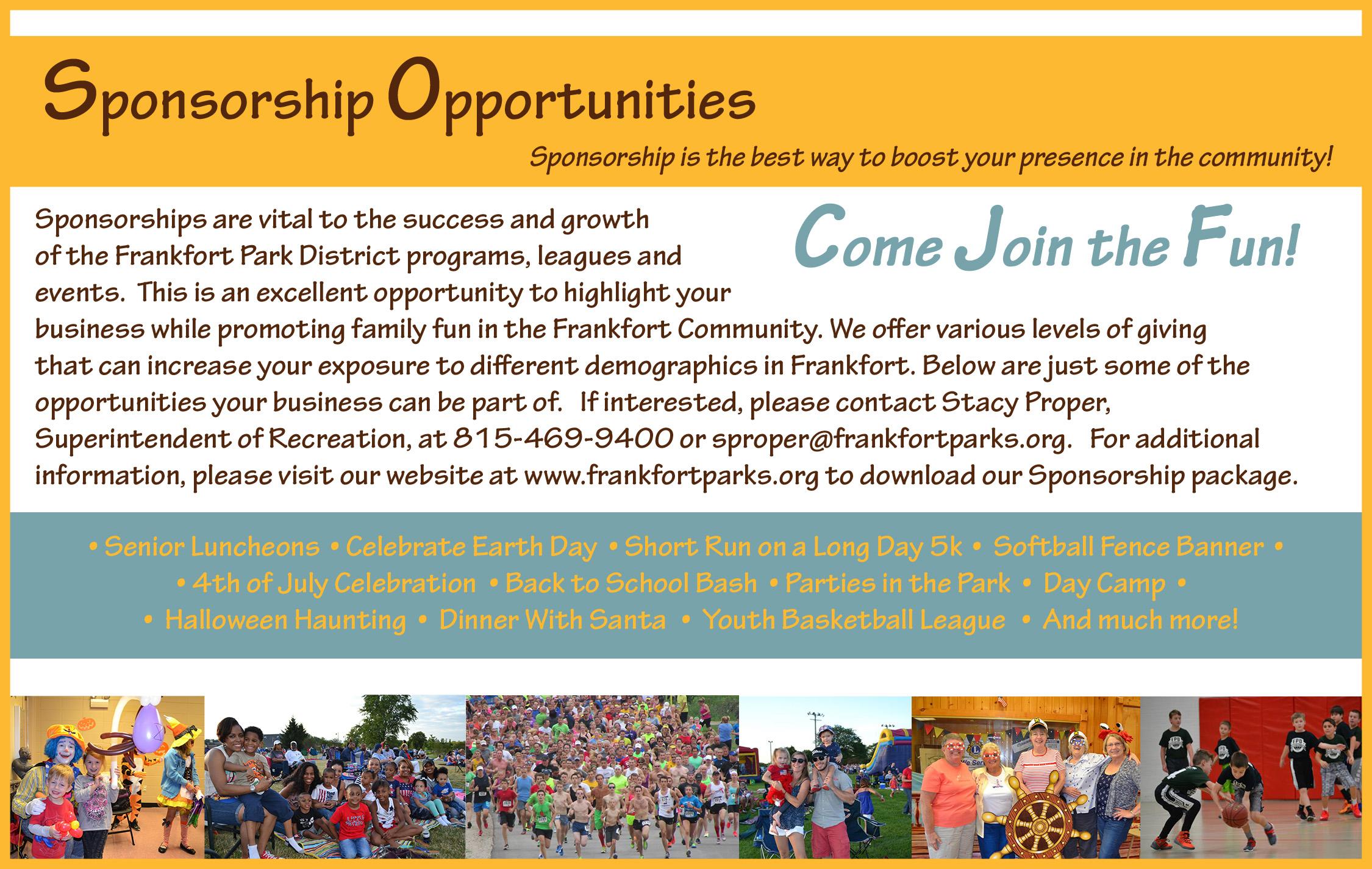 Sponsorship - Frankfort Park District
