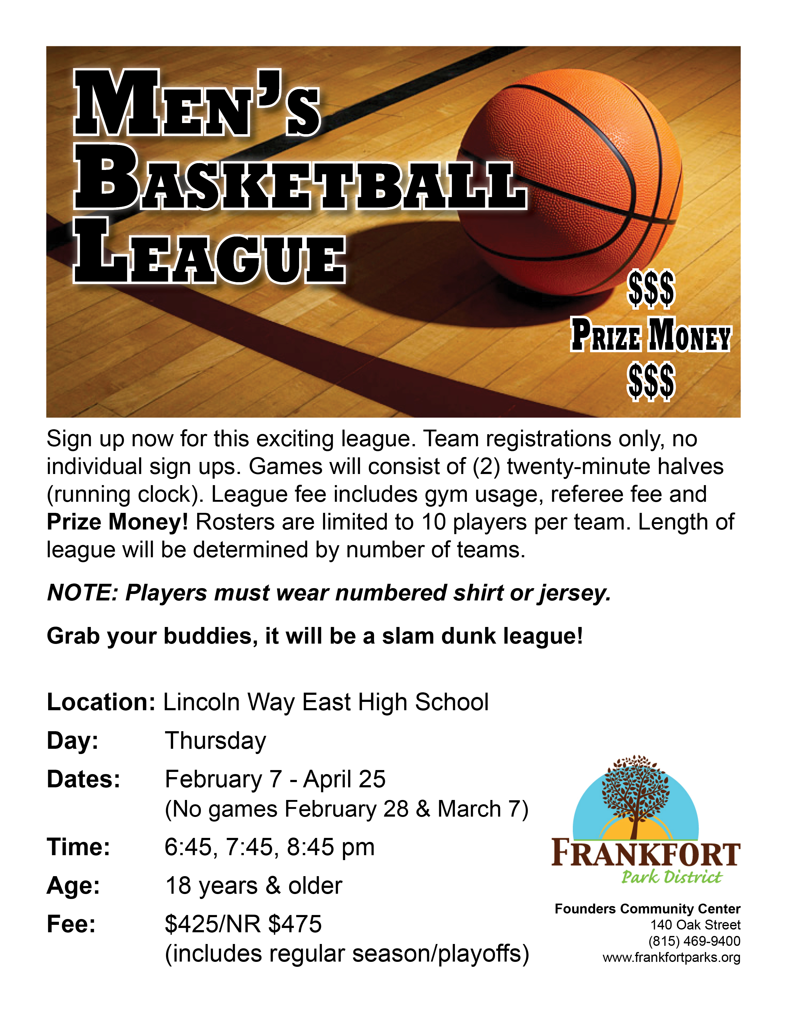 Mens Basketball League Winter 2019 - Frankfort Park District
